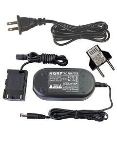 HQRP Fully Decoded AC Adapter for Canon EOS 80D, EOS 5D Mark IV Digital Camera + Euro Plug Adapter