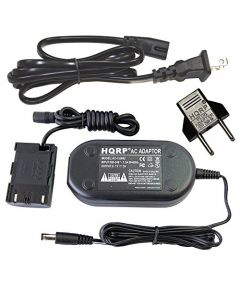 HQRP AC Adapter for Canon fits EOS 80D, EOS 5D Mark IV Digital Camera + Euro Plug Adapter