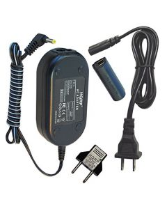 HQRP AC Adapter for Canon PowerShot N, N2, N Facebook Digital Camera, Power Supply Cord + Euro Plug Adapter
