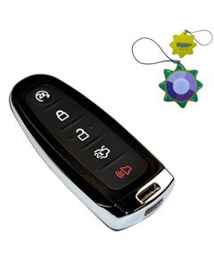 HQRP 5 Buttons Keyless Remote Case Shell Smart Prox Key for Ford Expedition, Flex 2015-2016; Focus, Taurus 2013-2016 plus HQRP UV Meter