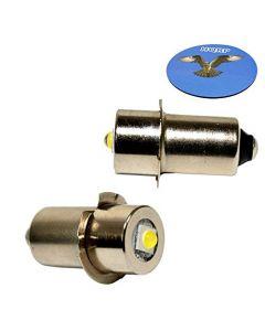 HQRP 2-Pack LED Upgrade Bulb for Porter Cable 90534275 PC1800FL PC1800L PC18FL PCL180FL PCL180L Flashlight, 100LM 7-30V + HQRP Coaster