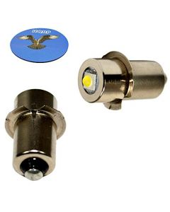 HQRP 2-Pack LED Upgrade Bulb for Makita BML185 BML185W ML140 ML141 ML142 ML143 ML183 ML184 Flashlight, 100LM 7-30V + HQRP Coaster