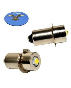 HQRP 2-Pack LED Upgrade Bulb for Ryobi ONE+ Worklight P704 P700 335443 019622001007 7811501 780293001 Flashlight, 100LM 7-30V + HQRP Coaster