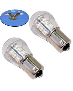 HQRP 2-Pack LED Light Bulb for AD2062R John Deere X324 LA145 L120 L130 S240 355D GT245 1026R 1023E 4300 4500 4600 4700 Tractor + HQRP Coaster