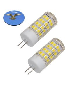 HQRP 2-Pack G4 Bi-Pin 52 LEDs Light Bulb SMD 2835 3W 110V 450-500Lm Cool White 6000-6500K Not Dimmable plus HQRP Coaster