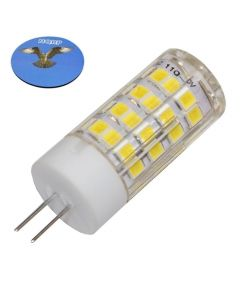 HQRP G4 Bi-Pin 52 LEDs Light Bulb SMD 2835 Cool White for Microwave oven, Puck, Refrigerator, Under-cabinet Lights, Reading Crystal Light plus HQRP Coaster