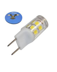 HQRP G8 Bi-Pin 17 LEDs Light Bulb SMD 2835 Cool White for GE over the stove microwave oven plus HQRP Coaster