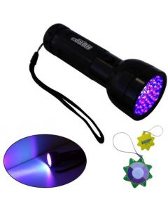 HQRP 51 LEDs UV Flashlight Blacklight 390nm for Pet Urine Stains Detection, Hunting / Animal Blood Tracking + HQRP UV Meter
