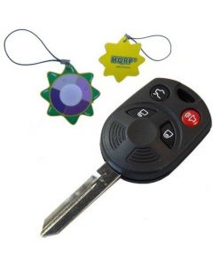 HQRP Remote Key Shell Case FOB w/ 4 Buttons compatible with Ford Escape 2009 2010 09 10 plus HQRP UV Chain / UV Health Meter