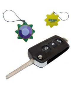 HQRP Folding Flip Key FOB Shell Remote Case w/ 4 Buttons compatible with KIA Rondo 2007 2008 07 08 plus HQRP UV Chain / UV Health Meter