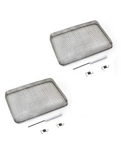 HQRP 2-Pack 5.9&quot x8.5&quot RV Furnace Water Heater Vent Cover Flying Bug Insect Rodent Screen w Installation Tool for Camper Travel Trailers Motorhomes plus HQRP Coaster