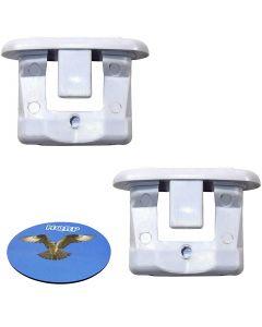HQRP 2-Pack Rack Slide End Cap fits GE GSD3300V00WW GSD3301J45BB GSD3340D00SA GSD3360D00SS GSD3361J50SS GSD3361K00SS GSD3361K01SS GSD3361K55SS GSD3610ZZ2AA GSD3610ZZ3AA Dishwasher + Coaster
