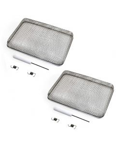 HQRP 2-Pack 5.9&quot x8.5&quot RV Furnace Water Heater Vent Cover Flying Bug Insect Rodent Screen w Installation Tool for Atwood 6 10 Gallon Suburban 6 Gallon + Coaster