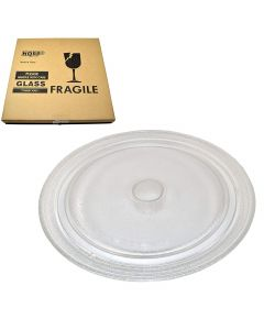 HQRP 10-3 4 inch Glass Turntable Tray for Sharp R2A84 R2F52B R2G54 R2M52B. R2S56 R2S58 R4180 R4180P R4180PA R4180R R4180RA R4180W R5975A R5980A Microwave Oven Cooking Plate + HQRP Coaster