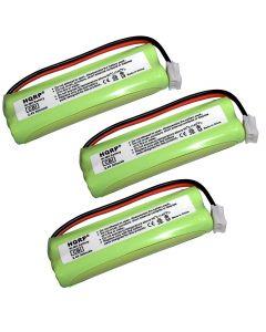 HQRP 3-Pack Battery for VTech BT-18443 BT18443 LS6225 LS6225-2 LS6225-3 LS6225-4 LS6225-5 LS6226 LS6226-2 LS6117 LS6117-12 LS6117-15 LS6117-19 Cordless Phone plus Coaster