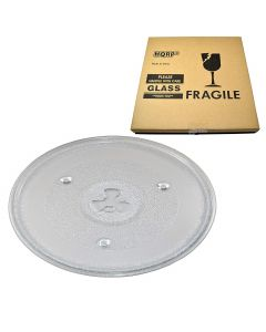 HQRP 10-1/2 inch Glass Turntable Tray for Hamilton Beach 252100500497 HB-P90D23 HB-P90D23A HBP90D23 Microwave Oven Cooking Plate 270mm + HQRP Coaster