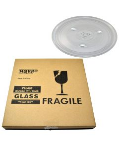 HQRP 12-3 8 inch Glass Turntable Tray for GE WB49X10227 JES1130DS1BB JES1130DS1WW JES1139DS1BB JES1139DS1WW JES1140SP1SS JES1145DP1BB JES1380DR1BB Microwave Oven Cooking Plate 315mm + HQRP Coaster