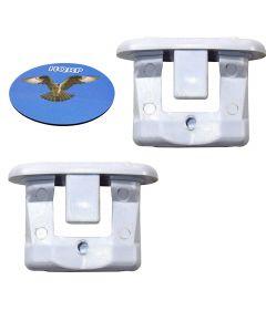 HQRP 2-Pack Rack Slide End Cap fits GE GSD2350R15CS GSD2422F00BB GSD2600G00WW GSD2615F00AA GSD2625F00BB GSD2635F00WW GSD3300D00BB GSD3300R15BB GSD3300R15CC GSD3300R15WW Dishwasher + Coaster