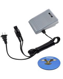 HQRP Foot Controller for Singer 979314-031 988274-090 362095-001 619494-001 619494-002 362307-003 979314-013 Sewing Machine Pedal Speed Power Cord + HQRP Coaster