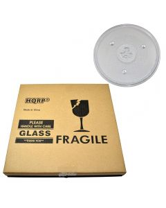 HQRP 10-1/2 inch Glass Turntable Tray for GE WB49X10185 JES0736SP1SS JES0737DN1BB JES0737DN1WW JES0737DN2BB JES0738DP1BB JES0738DP1WW JES737WM01 Microwave Oven Cooking Plate 270mm + HQRP Coaster