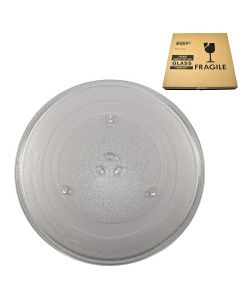 HQRP 14-1 8 inch Glass Turntable Tray for Amana Maytag DE74-20002 AMC2206 AMC5143 AMC6138 AMV5206 JMV8186 JMW8330 JMW9330 MMV4205 UMC5200 UMV2186 Microwave Oven Cooking Plate 360mm