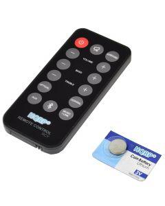 HQRP Remote Control for Philips 996510054954, 996510050576, 996510063326 CSS2123 CSS2123B/F7 CAS2123 CAS2123B/F7 Soundbar Speaker System Controller + HQRP Coaster
