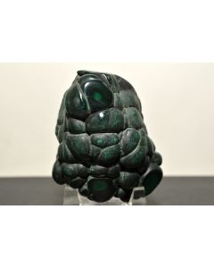 "Reserved for MEREDITH - 175g 2.8"" Natural Dark Green/Black Botryoidal Malachite Specimen - Congo"