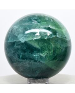 Reserved for MEREDITH - 48mm Green Blue Fluorite Sphere Natural Crystal Sparkling Mineral Stone - China