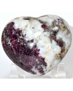 "Reserved for MEREDITH - 2.75"" Red Pink Rubellite Tourmaline in Moonstone Crystal Mineral Heart - Africa"