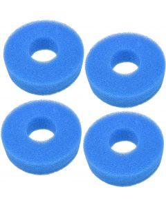HQRP 4-Pack Foam Sponge Filter Media for Laguna Pressure-Flo 1400 5000 UVC (PT1502) PT1503 PT-1503 Replacement plus HQRP Coaster