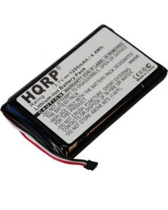 HQRP 1200mAh Battery for GARMIN 361-00035-01 Nuvi 1200 1205 1205W 1250 1255W 1260 1260W GPS Navigator + HQRP Coaster