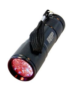 HQRP 9 LEDs Red Light LED Black Flashlight for Astronomy / Aviation / Night Vision plus HQRP UV Meter