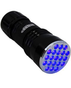 HQRP Professional 21 LED UV Flashlight with 380nm Wavelenght for Geology / Mineralogy plus HQRP UV Meter