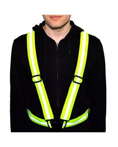 HQRP High Visibility Lightweight Reflective Safety Vest / Reflective Belt Perfect for Night Outdoor Activities, Neon Yellow