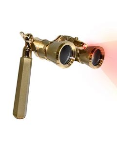 HQRP Opera Glasses w/ Crystal Clear Optic (CCO) Yellow / Golden Color with Gold Trim w/ Built-In Extendable Handle & LED light
