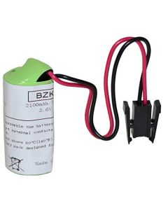HQRP Battery for Mitsubishi A6BAT MR-BA ER17330V Size 2/3A 3.6V RH-15AH PLC Programmable Logic Controller + Coaster