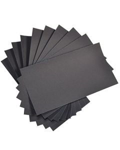"""HQRP 3"""" x 5 1/2"""" Wet Dry Sandpaper 1000 Grit, Waterproof Silicone Carbide, 10 Pack"""