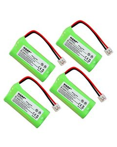 HQRP 4-Pack Phone Battery for Plantronics Calisto PRO D-150 D150 77049-01 73680-26 + HQRP Coaster