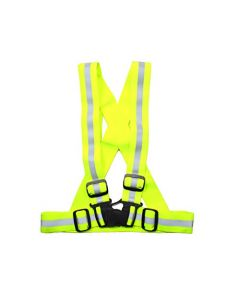HQRP Safety High Reflective Vest Neon Yellow Easily Adjustable for Night Working, Emergency Road Side Construction