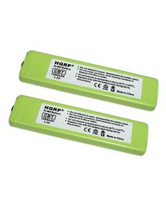 HQRP 2-Pack Battery for Sony NW-MS9 NW-MS11 TCM-80V WM-EX190 WM-EX615 WM-EX670 WM-EX672 MZ-R55 + HQRP Coaster