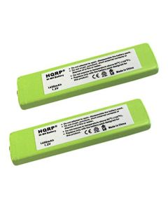 HQRP 2-Pack Battery for Aiwa MHB-901, RP BP61, RP BP61PY, RQ-SX40 + HQRP Coaster