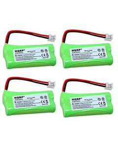 HQRP 4-Pack Phone Battery for AT&T Lucent TL90078, TL92278, TL92328, TL92378 + HQRP Coaster