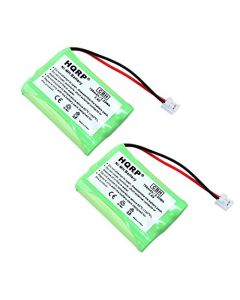 HQRP 2-Pack Phone Battery for Philips SJB2142, SJB2142/17, SJB2142/37 Replacement + HQRP Coaster