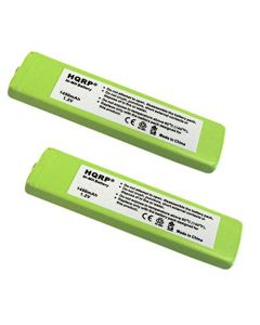 HQRP 2-Pack Battery for Panasonic HHF-1PSC RP-BP140H RP-BP61 RP-BP61PY SL-CT730 SL-CT830 SL-J905 SL-J910 + HQRP Coaster