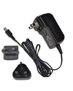 HQRP Wall AC Power Adapter for JVC GR-D250 GR-D250U GR-D250US Camcorder - (incl. USA Plug & Euro Adapter)