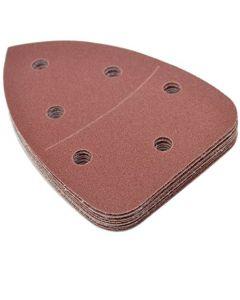 """HQRP 120-Grit 5.5"""" X 3.875"""" Hook & Loop Sand Paper for Black & Decker Mouse Detail Sander, 10 Pack"""