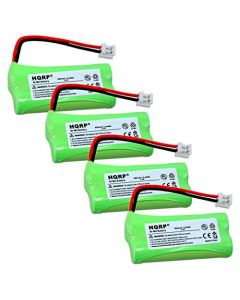 HQRP 4-Pack Phone Battery for AT&T Lucent SL82118, SL82208, SL82218, SL82318, SL82408, SL82418 + HQRP Coaster