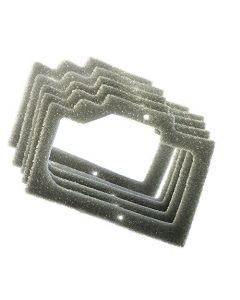 HQRP 5 - Pack Foam Gasket Air Filters for Homelite 330 series Chainsaws + HQRP Coaster