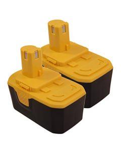HQRP 2-Pack 18V 2200mAh Battery for Ryobi ONE+ BPP-1817/2, CCS-1801/DM, CCS-1801/LM, CDI-1802, CDI-1803M, CID-1802M + HQRP Coaster