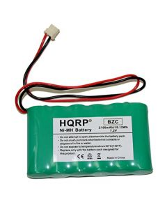 HQRP 2100mAh High Capacity Backup Battery for ADT Safewatch QuickConnect, QuickConnect Plus Security System + HQRP Coaster